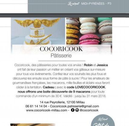 Publication Cocoricook Elle Magazine Février 2018