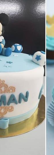 gâteau personnalisé et cupcakes Mickey