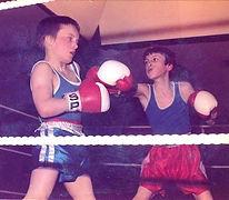 James Clarke boxing as an amateur boxer