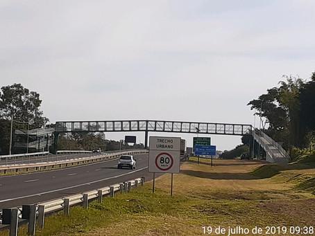 2019 - Rodovias do Tietê concluiu mais uma obra de Implantação de Passarela em Botucatu-SP.