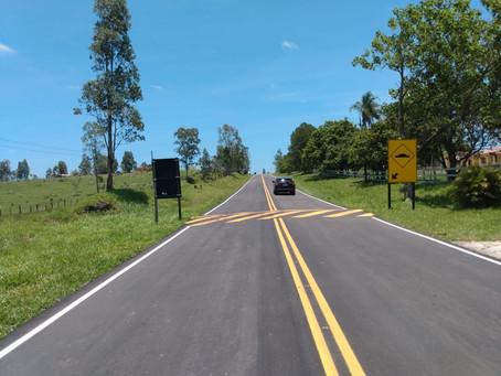 Rodovias do Tietê/ARTESP concluiu mais uma obra de recapeamento de Vicinal CHS 387 em Conchas/SP