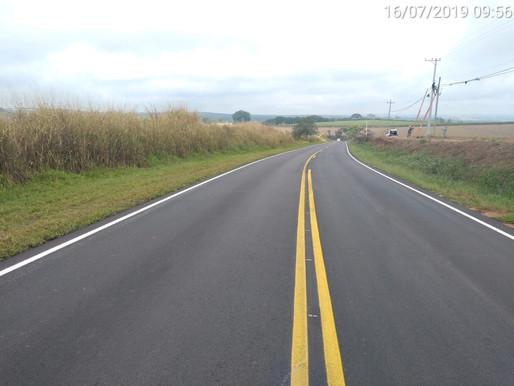 2019 - Rodovias do Tietê concluiu mais uma obra de recapeamento em Porto Feliz.
