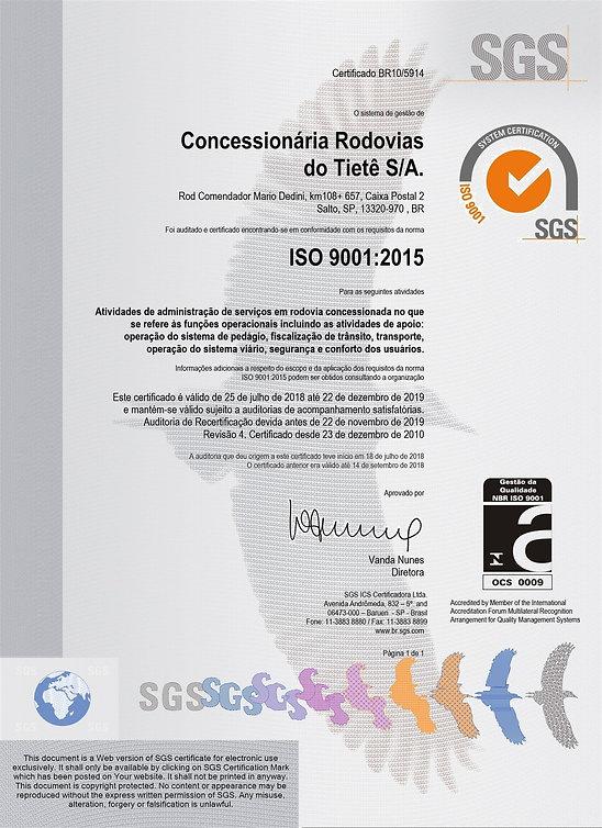 CERTIFICADO ISO 9001 2015 (VAL. DEZEMBRO