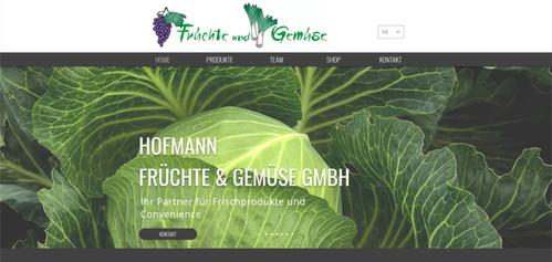 Webdesigin in Finsterherhennen für Hofmann Früchte und Gemüse