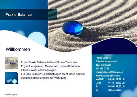 flyer für balance