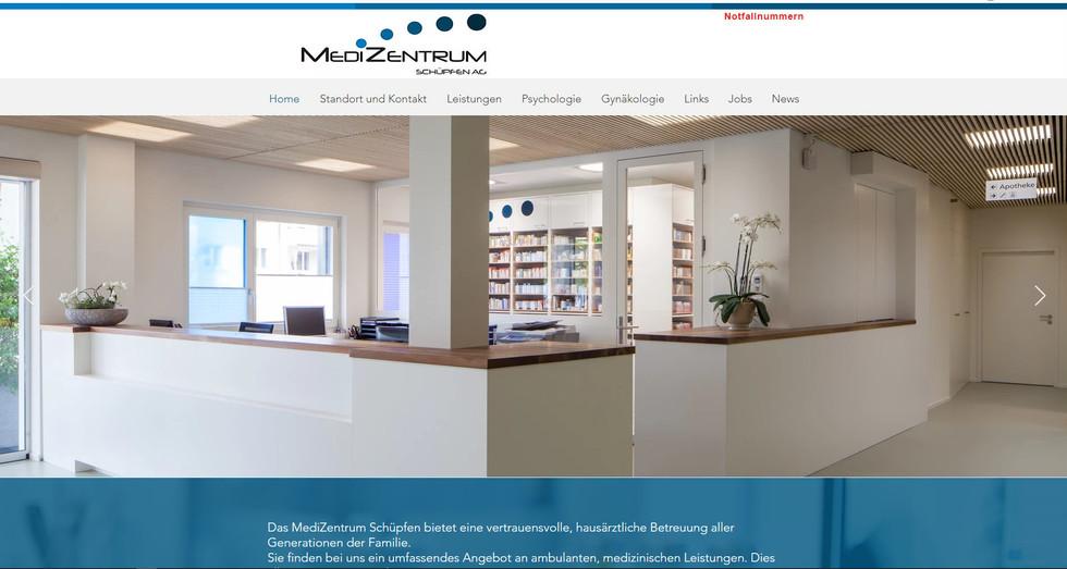 webdesign für medizentrum standorte seeland