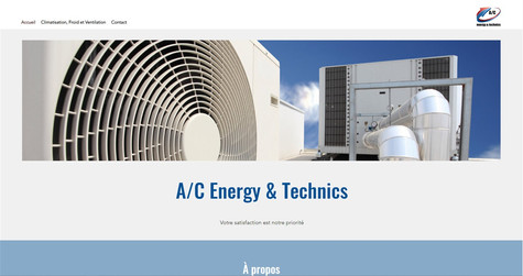 webdesign pour ac energy technics bulle