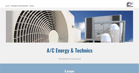 webdesign pour ac energy technics bulle