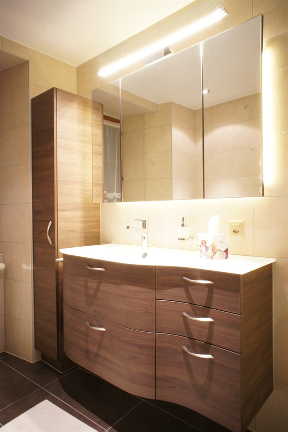 salle de bain meubel cintrée
