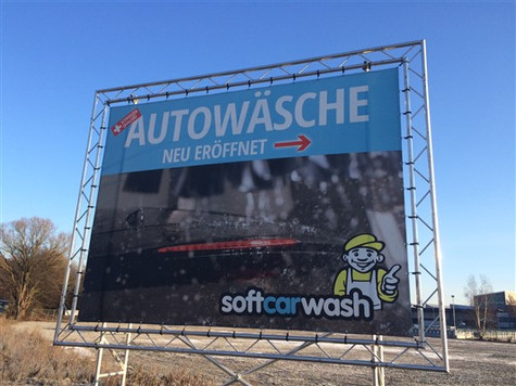 softcarwash design für grosse banner, plakate