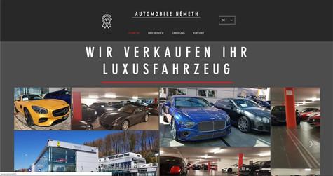 webdesign berne pour németh NOUS VENDONS VÔTRE  VÉHICULE DE LUXE