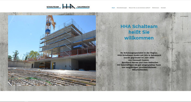 webdesign fuer hha schalteam in salvenach