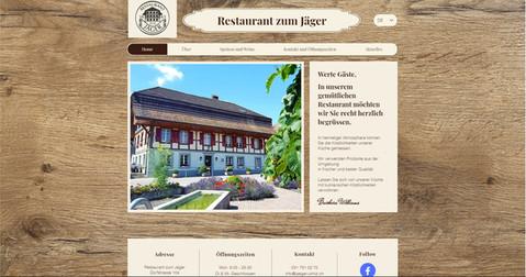 webdesign in ulmiz für restaurant jäger ulmiz