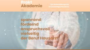 webseite fuer praktakademie.ch