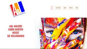 webseiten erstellung in murten fuer A und L Malerei