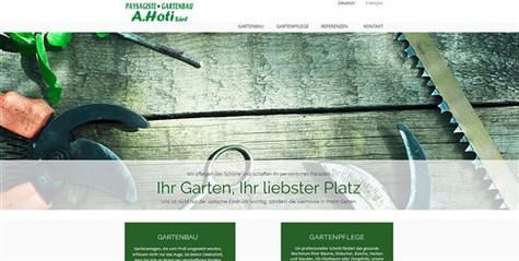 webdesign pour hoti paysagiste fribourg