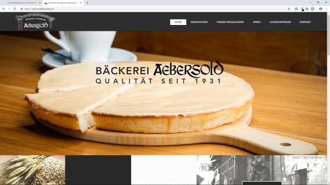 webdesign pour nidelkuchen bäckerei aebersold morat