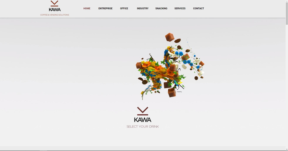 webdesign neuchâtel pour kawa vending