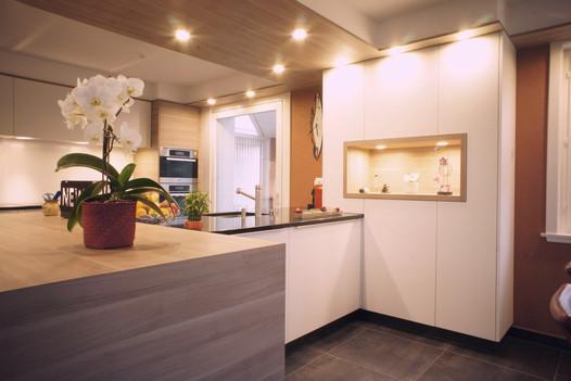 cuisine bois et blanche