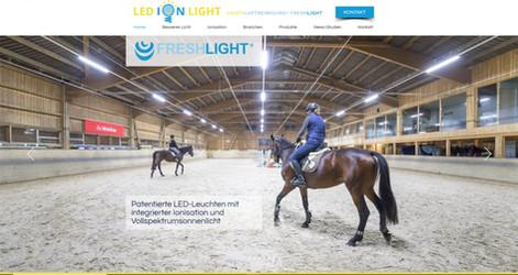 webdesign für ledionlight freshlight