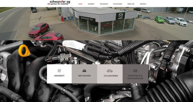 webdesign in kerzers fuer schwander garage