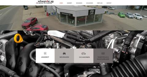webdesign in kerzers fuer schwander garage
