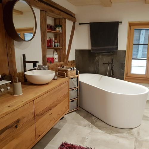 Badezimmer Eiche rustikal