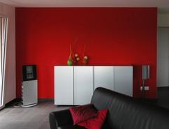 Wand farbig