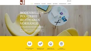 webdesgin in rapperswil - erstellung einer neuen webseite fuer fritz jakob innendekorationen, betten und böden