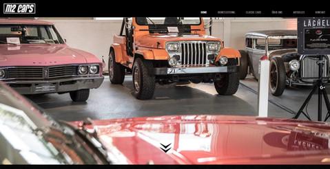 webseiten erstellung fuer die auto garage m2 cars