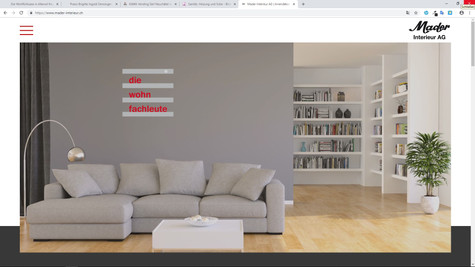 webdesign pour mader interieur neuenegg