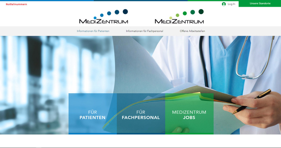 webseiten für alle medizentrum praxen und standorte