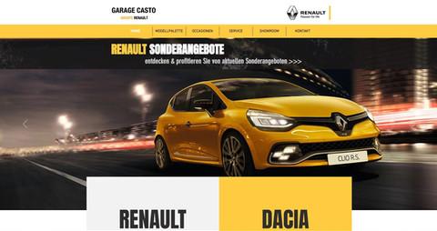 webseiten erstellung für die renault garage casto in burgdorf