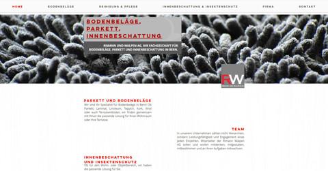 webdesign in bern fuer riemann und walpen ag