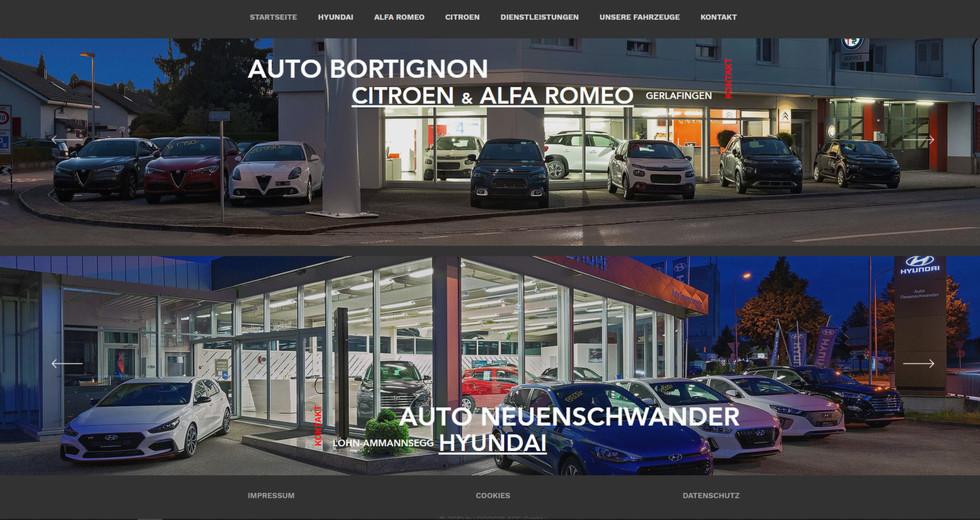 webseiten erstellung für autogarage bortignon in gerlafingen und lohn