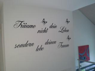 Wandbeschriftung