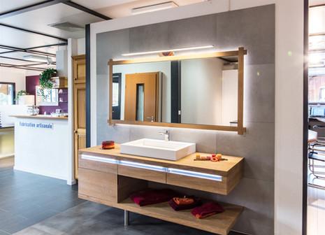 salle de bain chêne massif