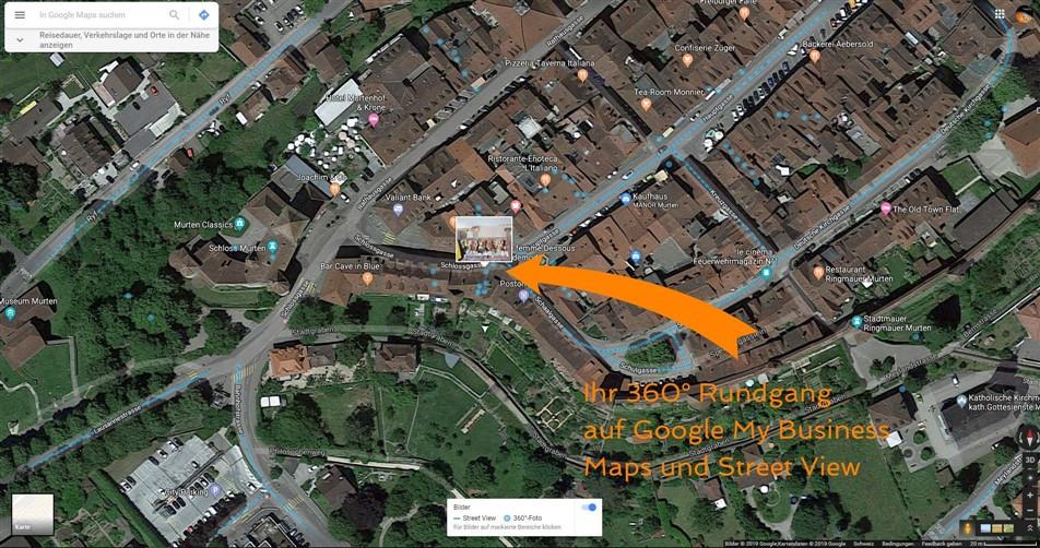360° Aufnahmen auf Street View Einbauen