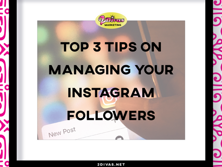 Top three tips on managing your Instagram followers