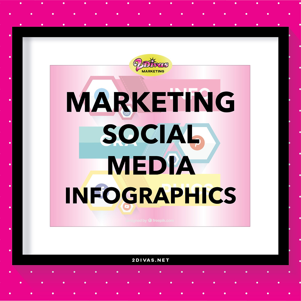 Marketing Social Media Infographics by @2DivasMarketing