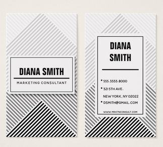 Ombre Abstract Lines Business Card