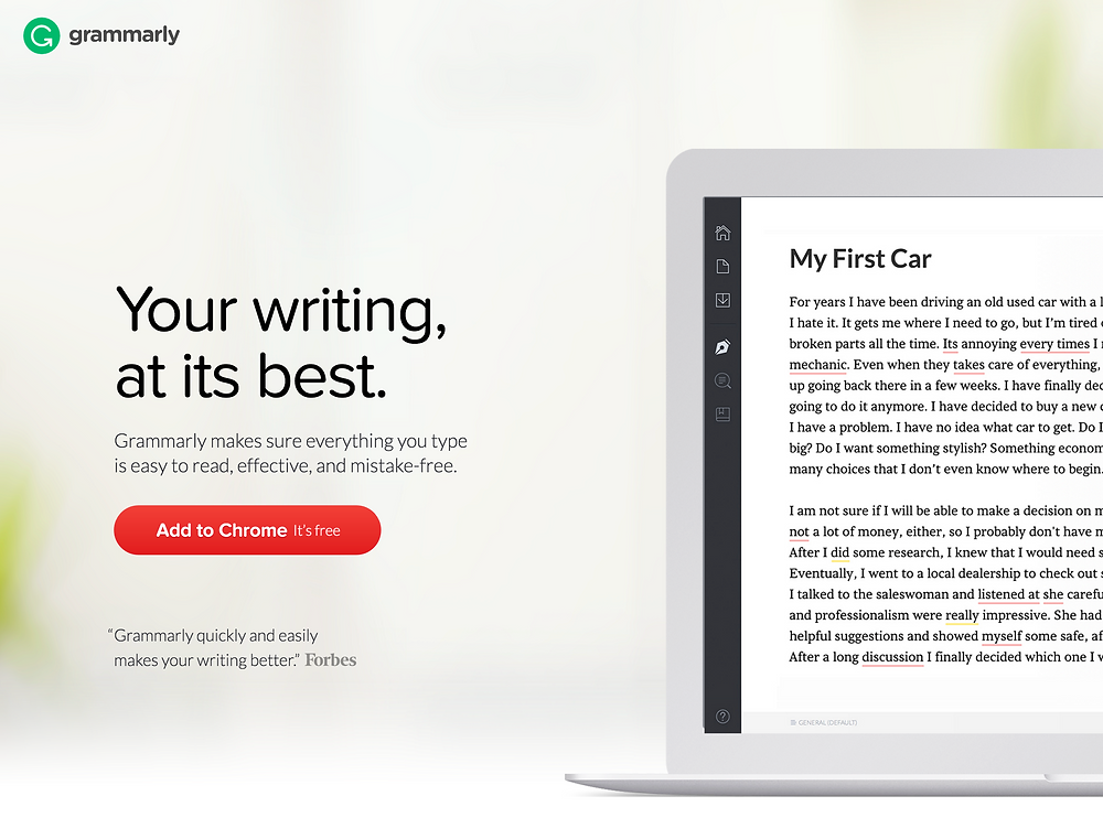 Grammarly Proof Reading Tool