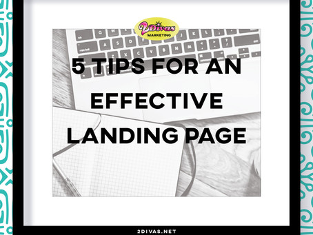 5 Tips For An Effective Landing Page