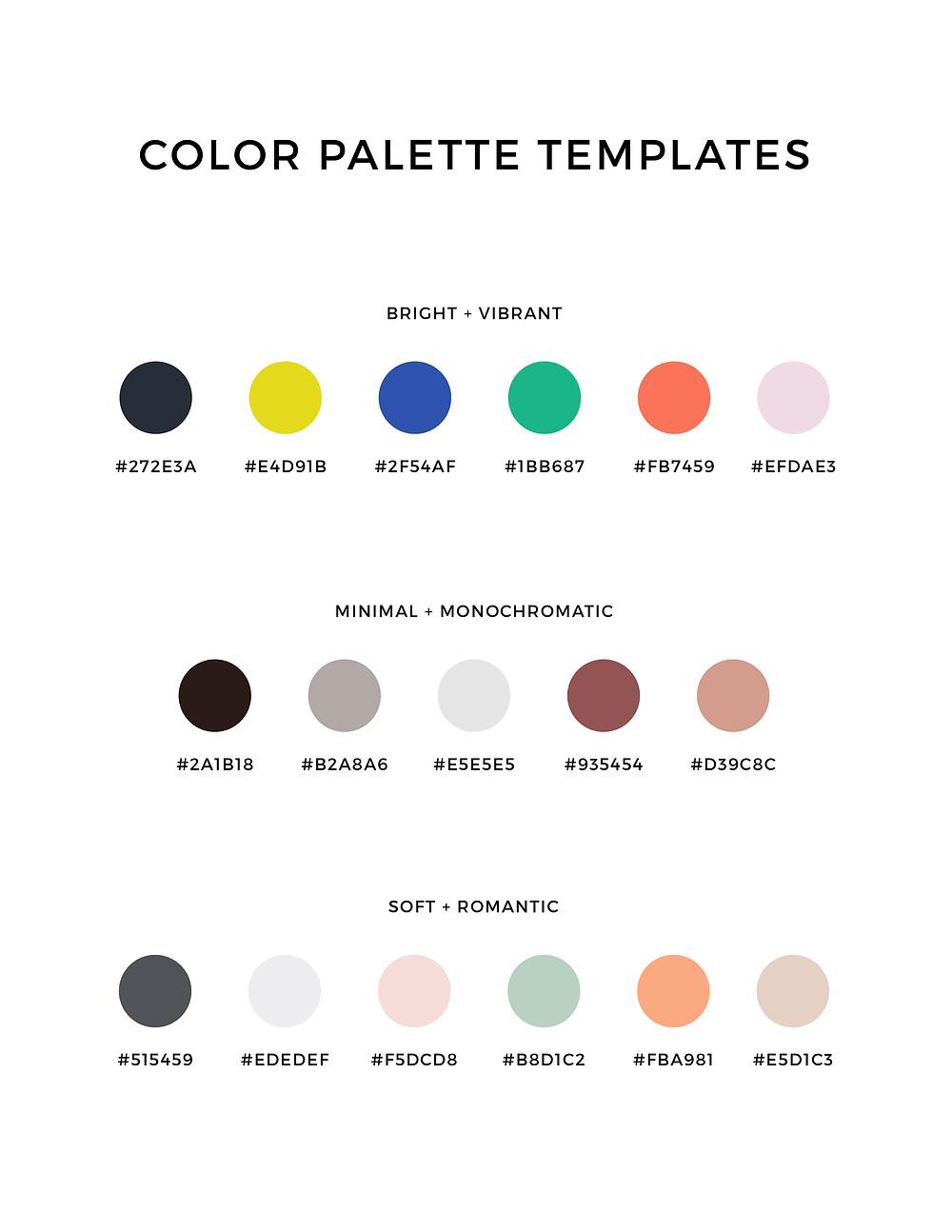 Color Palette Templates