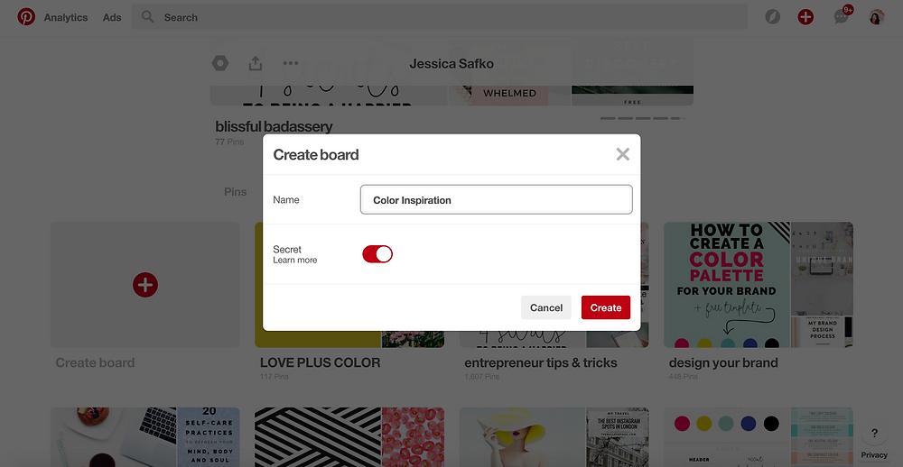 Pinterest Secret Board