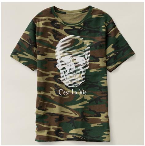 Lined Skull T-shirt
