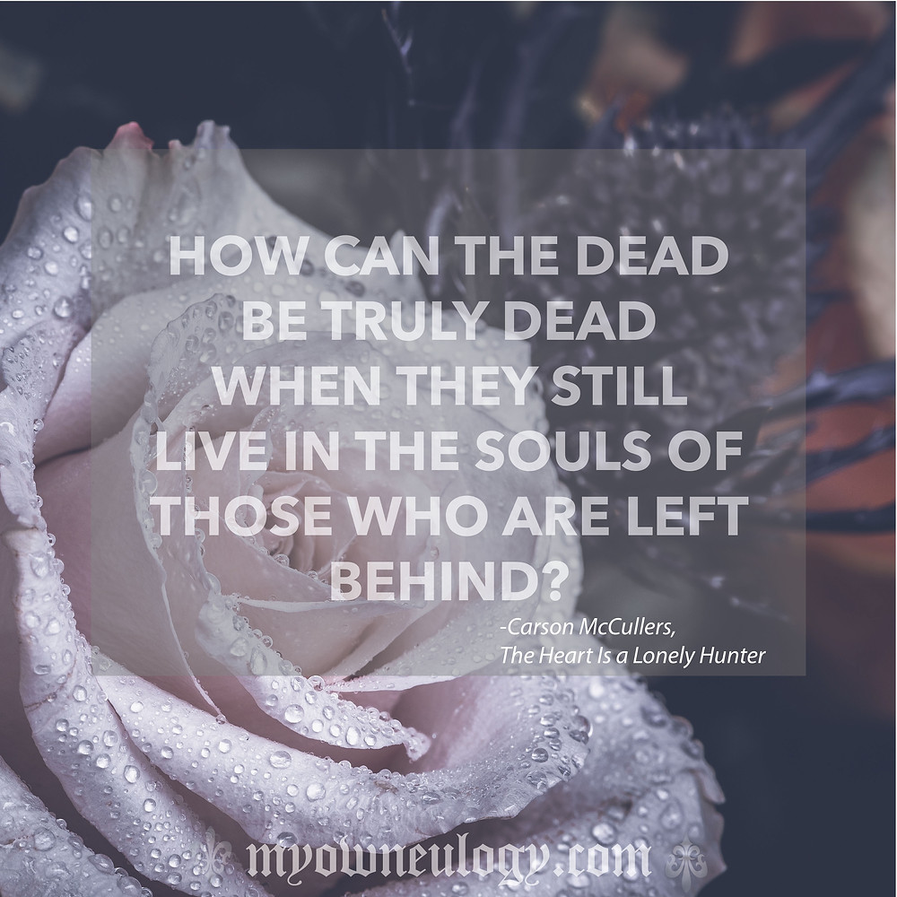 Quote about the dead
