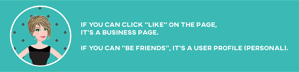 Facebook Business Page vs Personal Profile Page