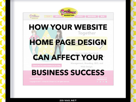 How Your Website Home Page Design Can Affect Your Business Success [infographic]