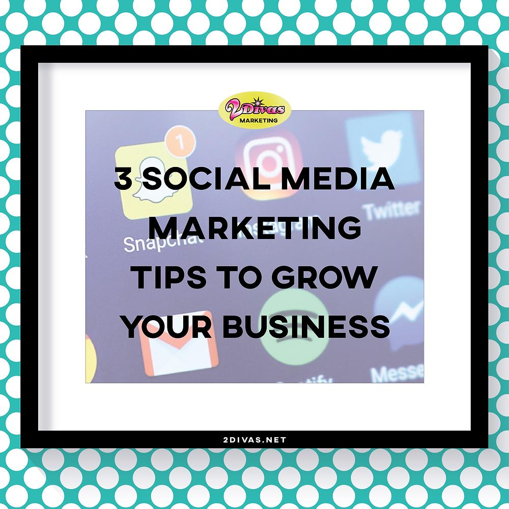 Social Media Marketing Tips Via @2DivasMarketing